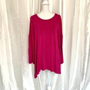 PERFECT for SPRING     FUSCIA TUNIC TOP      LARGE